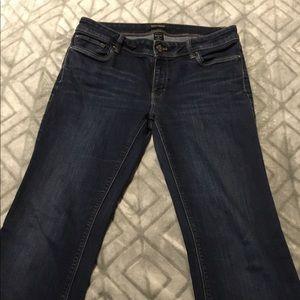 White House Black Market Dark Wash Boot Leg Jeans